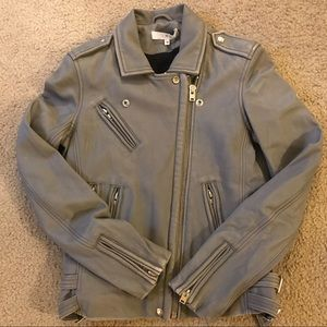 Iro han Leather Jacket grey